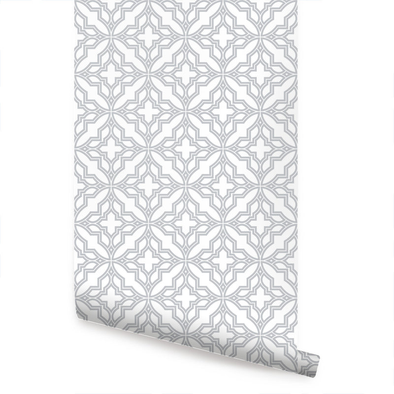 DIAMOND FLOWER WALLPAPER - PEEL AND STICK