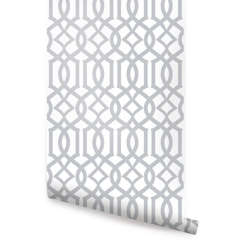 MODERN TRELLIS WALLPAPER - PEEL AND STICK