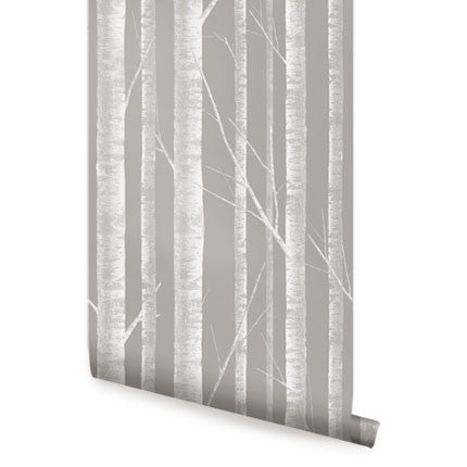 Birch tree wallpaper peel and stick simple shapes - Birch tree wallpaper peel and stick ...