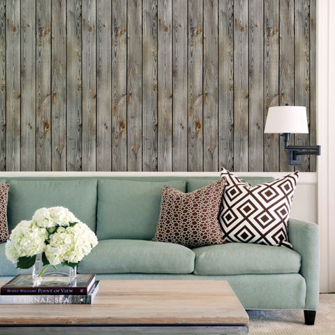 Vintage Wood Wallpaper - Peel and Stick