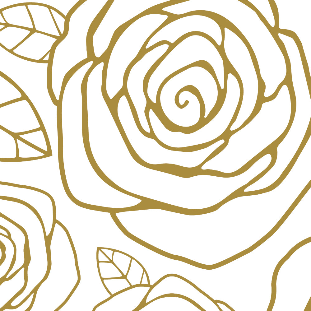 Gold Roses Wallpaper - Peel and Stick – Simple Shapes