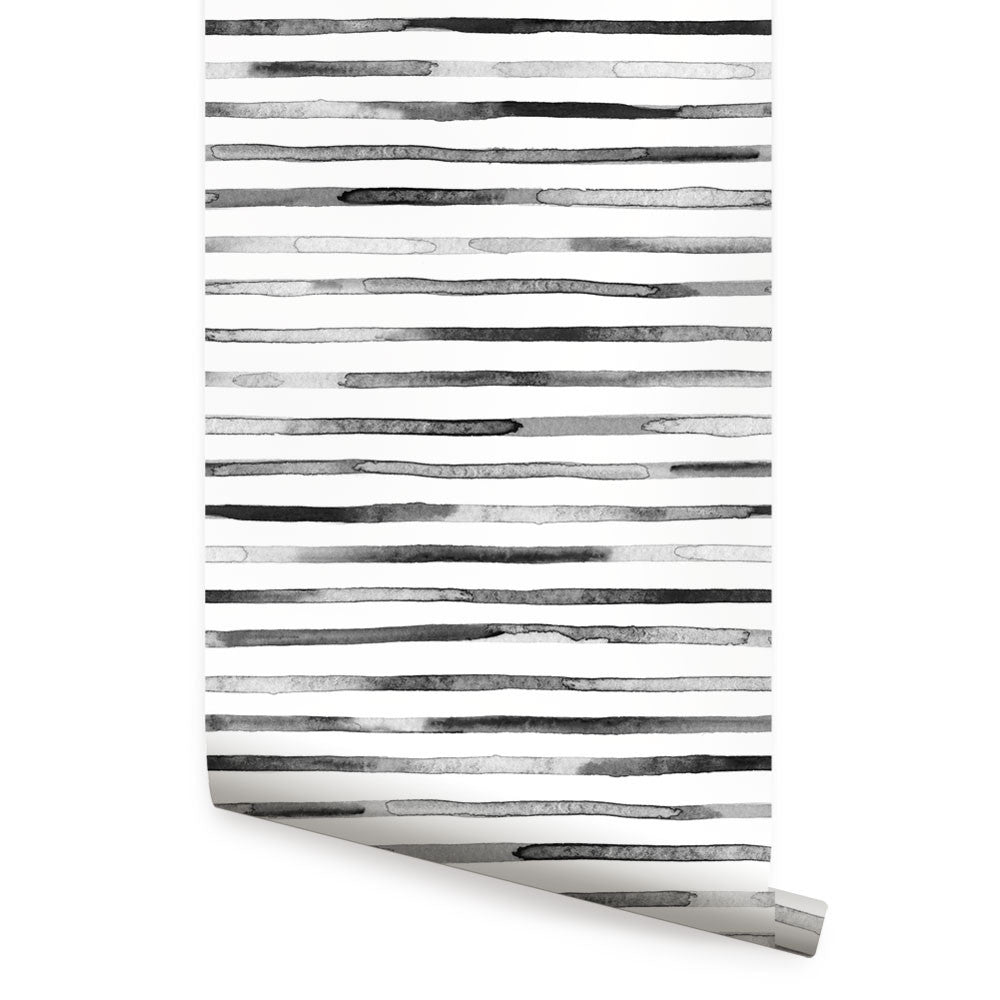 Watercolor Stripes Wallpaper - Peel and Stick