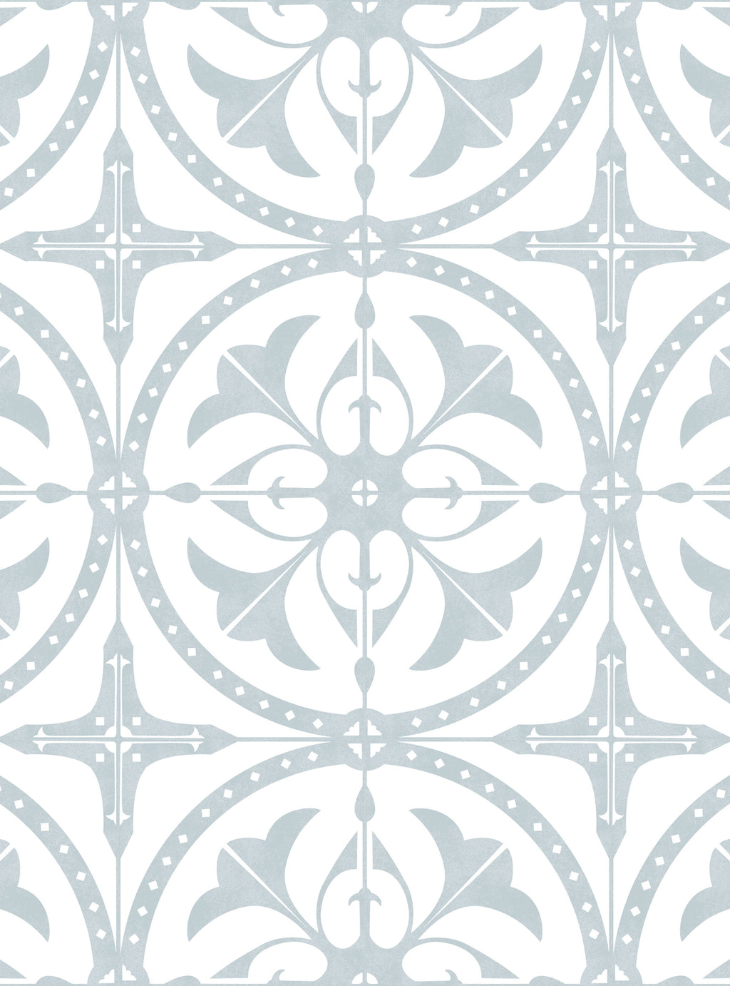 Round Moroccan Tile Wallpaper - Peel and Stick