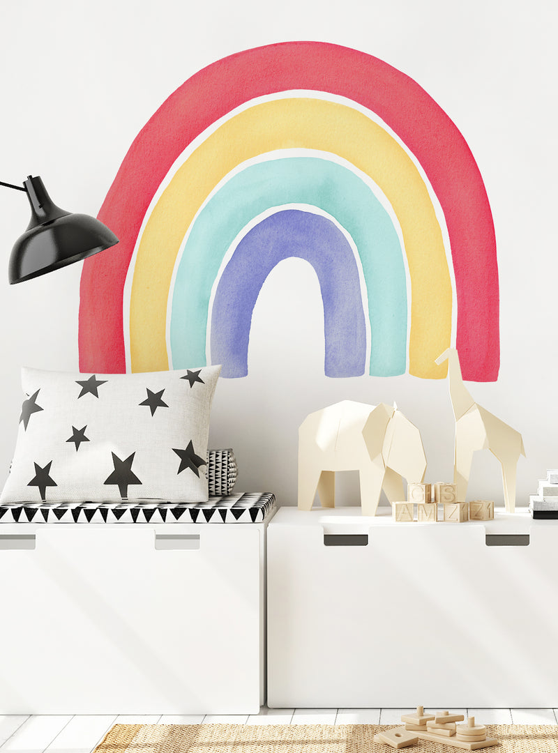 Watercolor Rainbow Wall Sticker - Peel and Stick