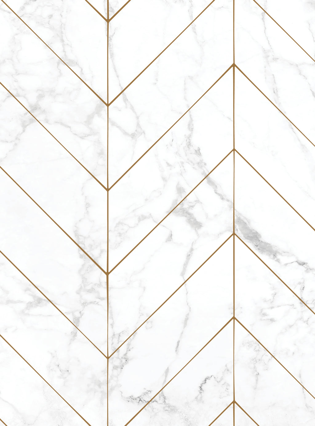 Chevron Marble Wallpaper - Peel and Stick