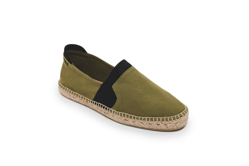 CR7 Alicante Khaki Canvas Slip On Espadrille