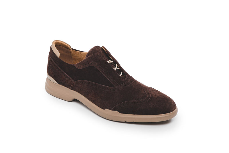 CR7 Amalfi Brown Suede Lace Up Brogue