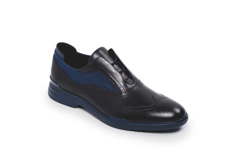 CR7 Amalfi Black Leather Lace Up Brogue