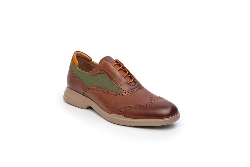 CR7 Amalfi Camel Leather Lace Up Brogue