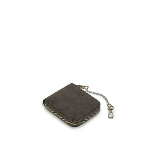 Benoni Grey Leather Billfold Wallet