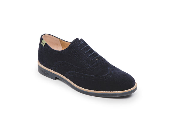 CR7 Braga Navy Suede Lace Up Brogue