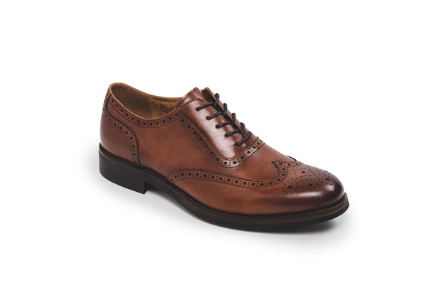 Bristol Brown Leather Lace Up Brogue