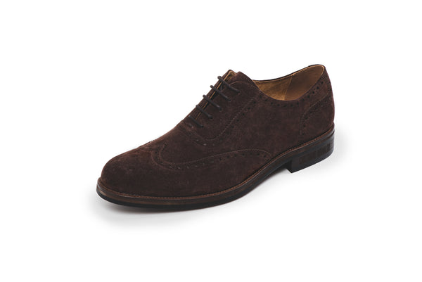 Bristol Brown Suede Lace Up Brogue