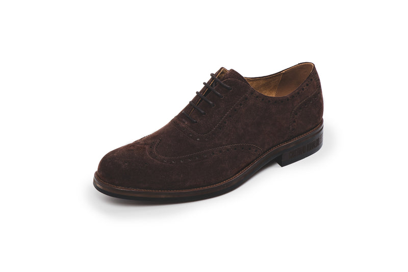 CR7 Bristol Brown Suede Lace Up Brogue