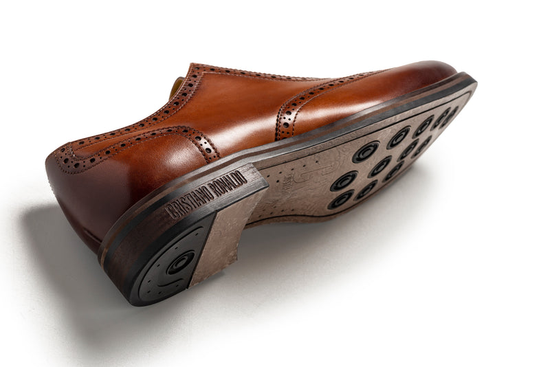 CR7 Bristol Brown Leather Lace Up Brogue