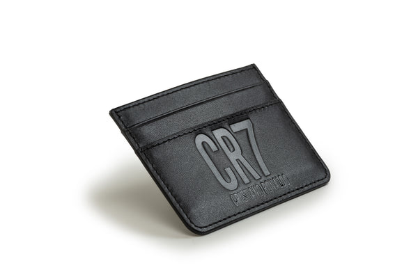 CR7 Pretoria Black Leather Card Holder