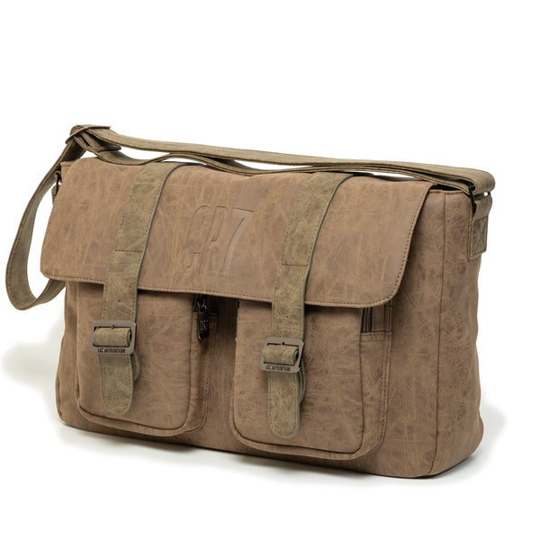 Durban Taupe Messenger Bag