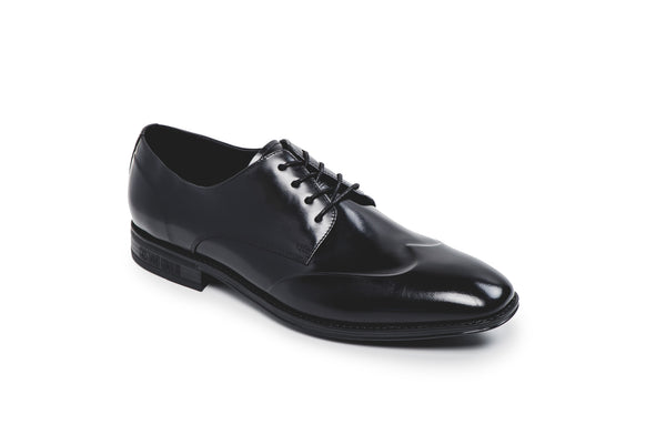 CR7 Edimburgh Black Leather Lace Up Derby