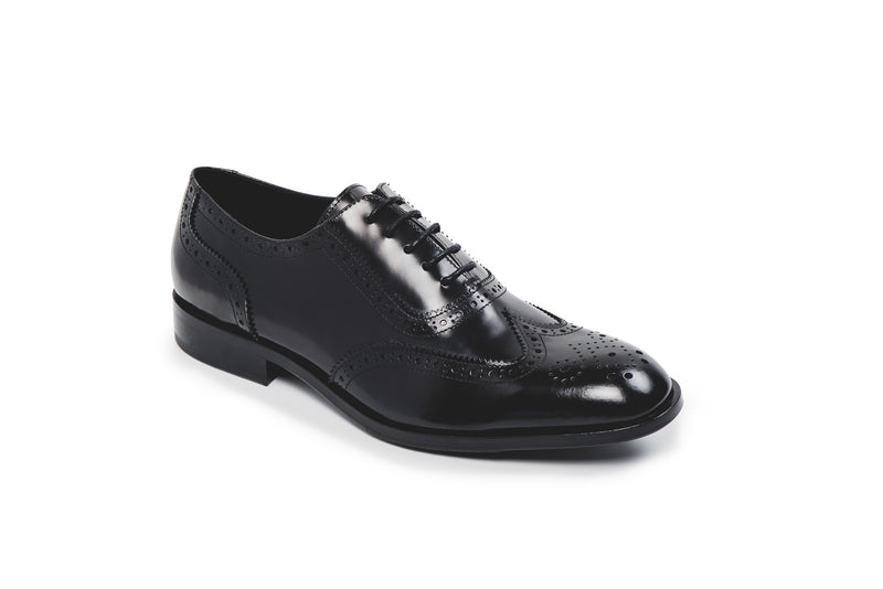 CR7 Funchal Black Leather Lace Up Derby