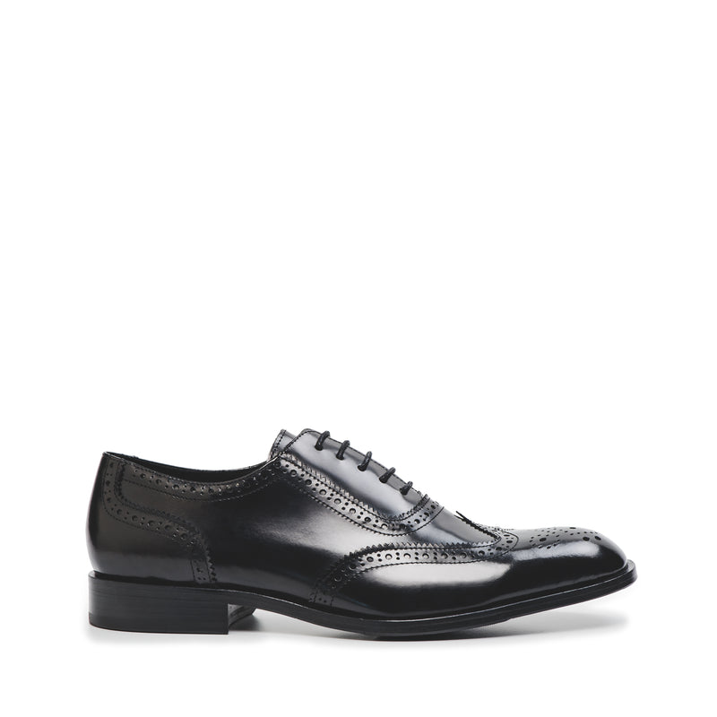 Funchal Black Leather Lace Up Derby