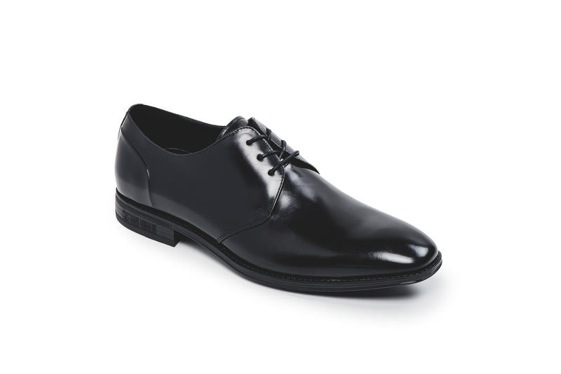 Glasgow Black Leather Lace Up Derby