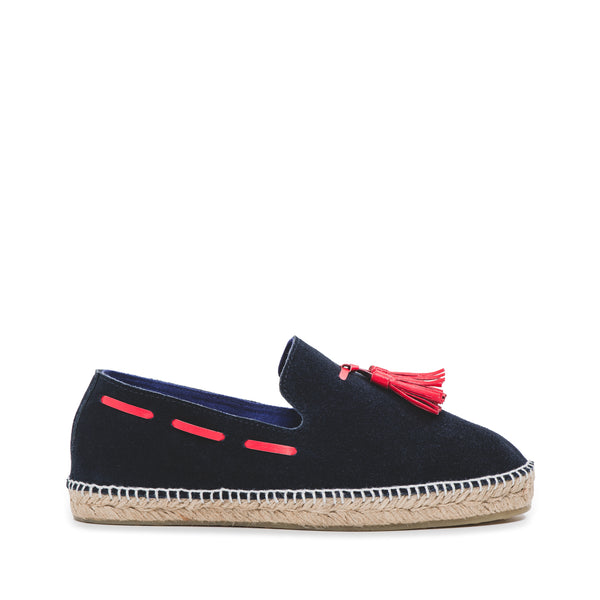 CR7 Granada Navy Suede Slip On Espadrille