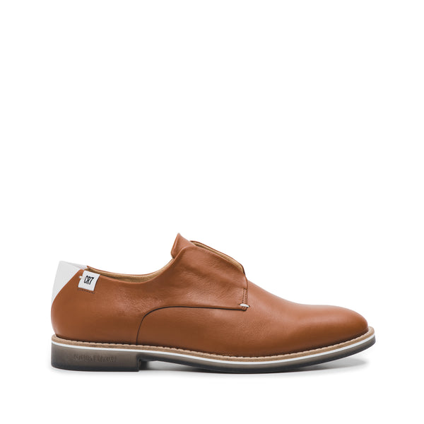 CR7 Lagos Camel / White Leather Laceless Derby