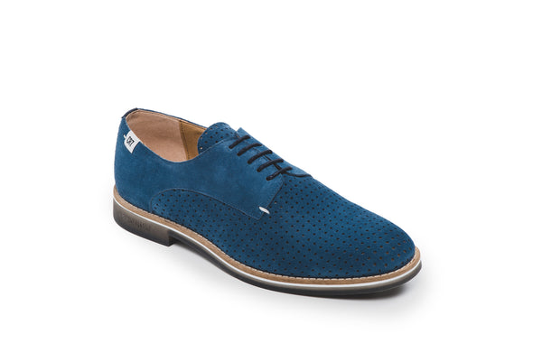 CR7 Lisbon Blue Suede Lace Up Brogue