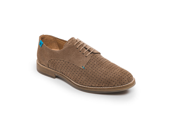 CR7 Lisbon Brown Suede Lace Up Brogue