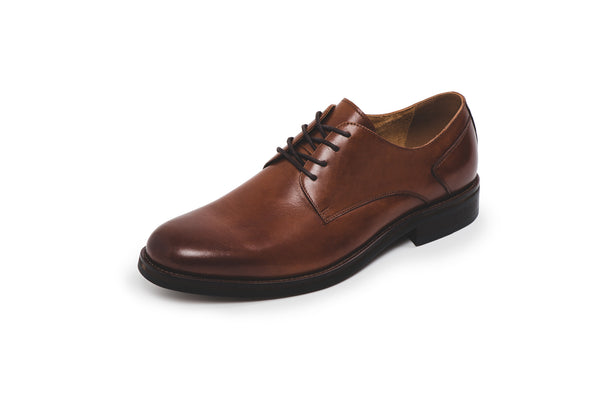 CR7 London Cognac Leather Lace Up Derby