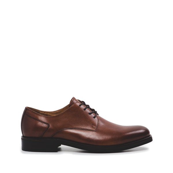 London Cognac Leather Lace Up Derby