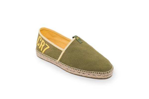 CR7 Madrid Khaki Canvas Slip On Espadrille