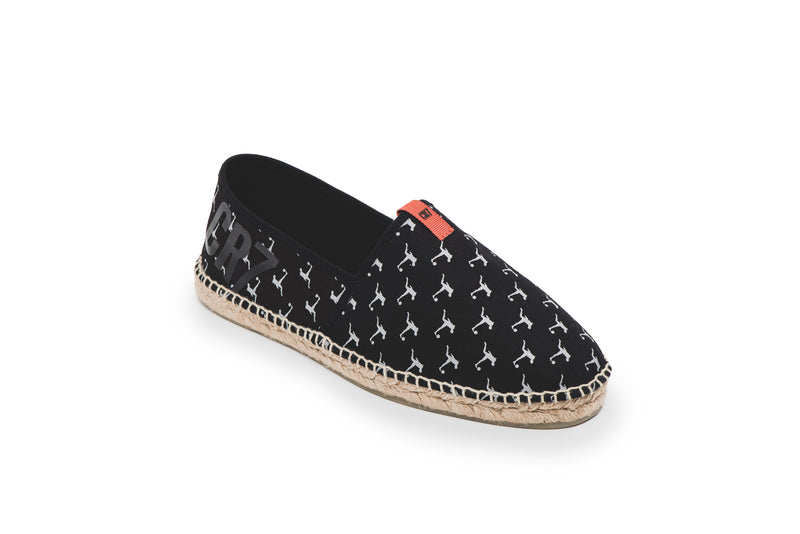 CR7 Madrid Black Canvas Slip On Espadrille