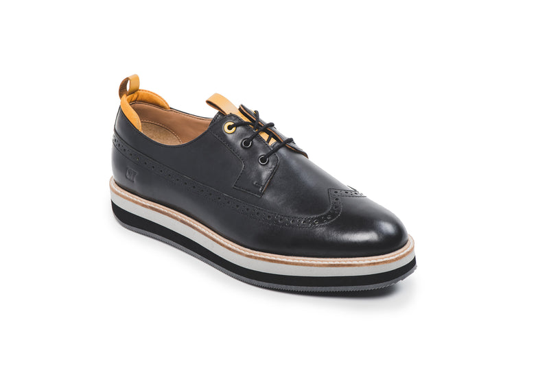 CR7 Miami Black Leather Lace up Derby