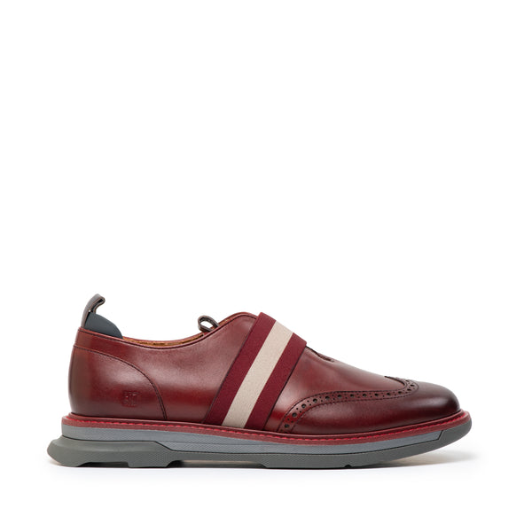CR7 Osaka Burgundy Leather Laceless Derby