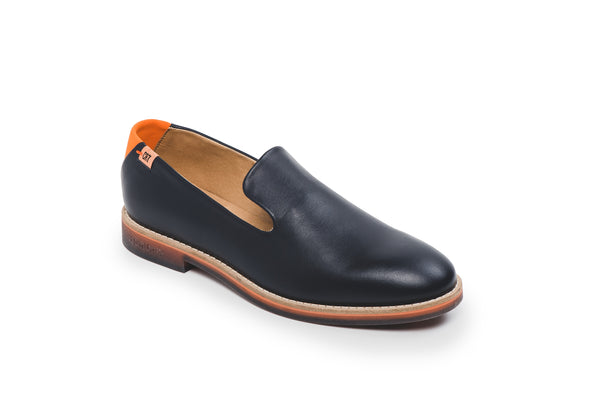 CR7 Oporto Navy Leather Slip on