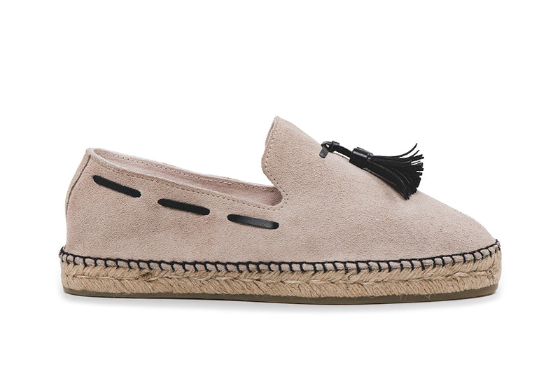 CR7 Granada Sand/ Black Suede Slip On Espadrille