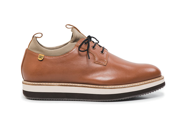 CR7 New York Camel Leather Lace up Derby