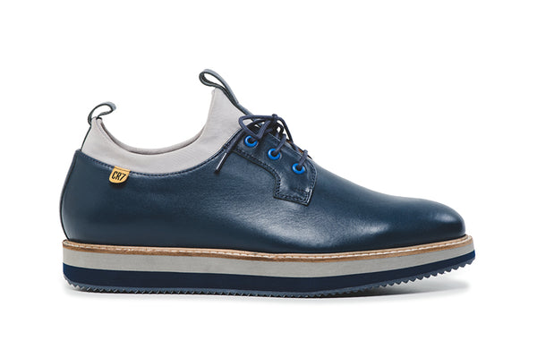 CR7 New York Navy Leather Lace up Derby