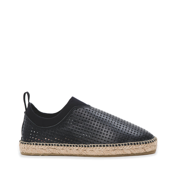 CR7 Toledo Black Leather Slip On Espadrille