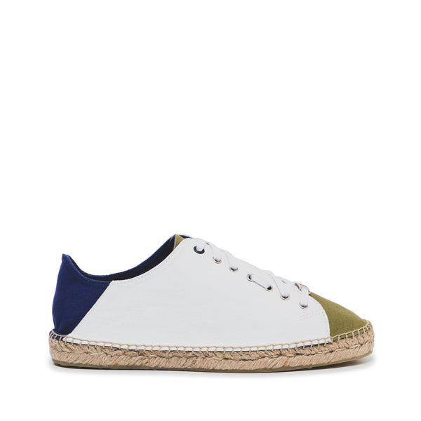 CR7 Valencia Khaki / Off White / Navy Canvas Lace Up Espadrille