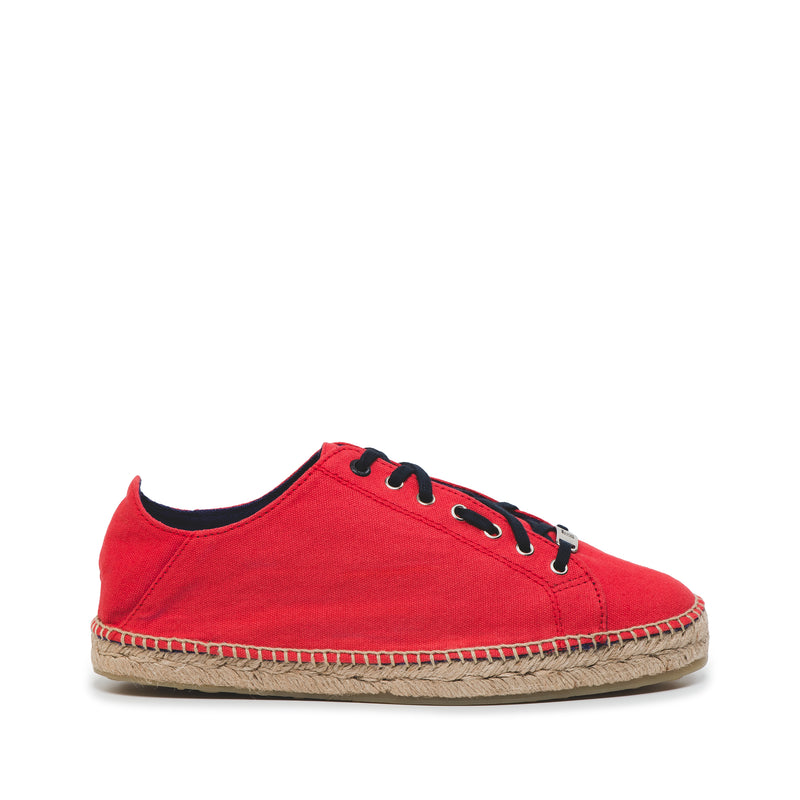CR7 Valencia Red / Navy Canvas Lace Up Espadrille