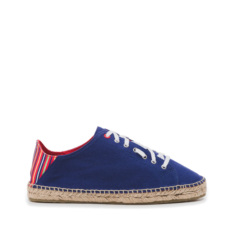 CR7 Valencia Navy / Multi Canvas Lace Up Espadrille