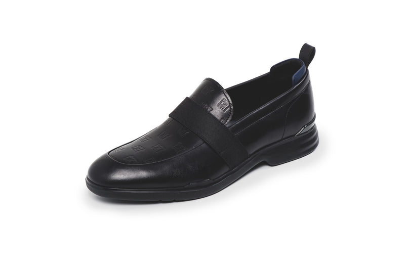 CR7 Venice Black Leather Slip On