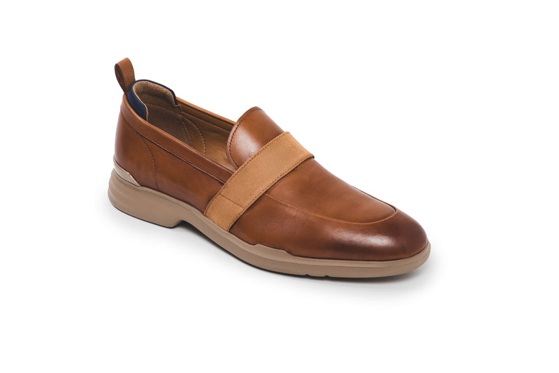 CR7 Venice Camel Leather Slip On