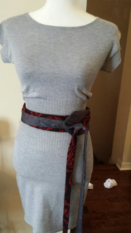 Sandrine - Handmade belt from recycled ties - Filliae store