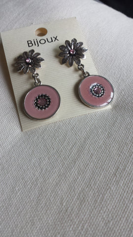 Stacey - Pendant daisies old pink earrings - Filliae store