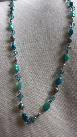 Ophelia - Long beaded turquoise necklace - Filliae store