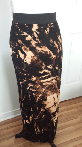Vera - One of a kind gothic tie dyed long skirt - Filliae store