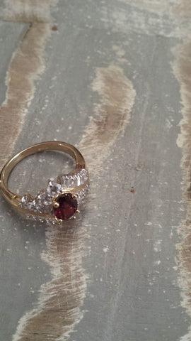 Sybil - vintage faux garnet and CZs for the full sparkle effect. - Filliae store